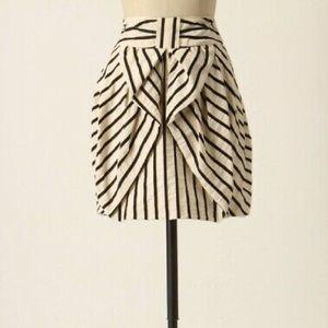 Anthropologie Eva Franco Aniseed Bow Tulip Skirt